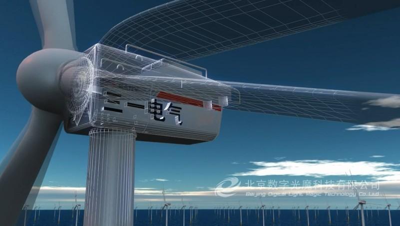 风力发电机组动画制作