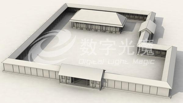 北京古代建筑动画制作