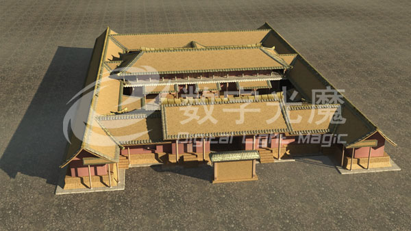 建筑骨架结构模型